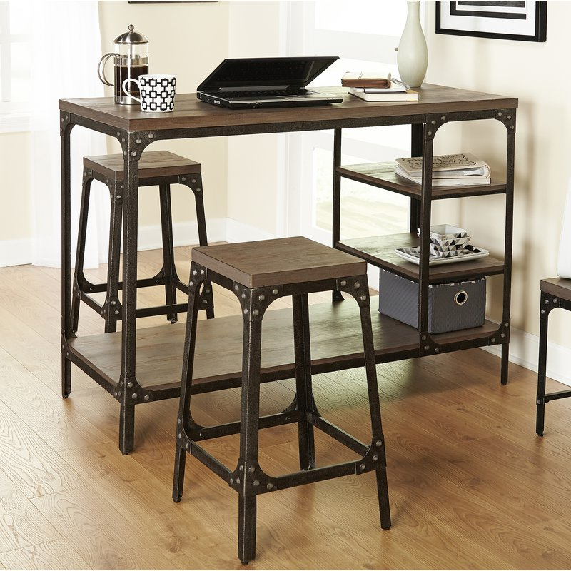 Most Popular Terence 3 Piece Breakfast Nook Dining Set & Reviews (View 16 of 20)