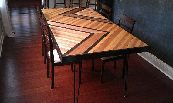 Most Popular Wood Slat Dining Table Topbuiltconcrete On Etsy, $ (View 8 of 20)