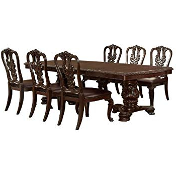Most Recent Amazon – Furniture Of America Evangelyn 7 Piece Dining Set With Throughout Linette 5 Piece Dining Table Sets (Gallery 4 of 20)