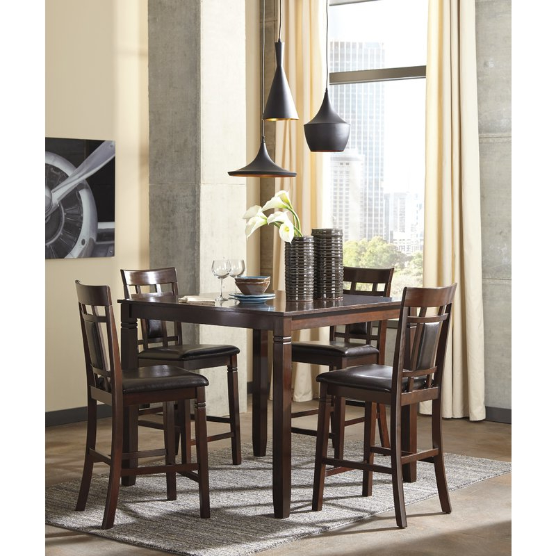Most Recent Leger 5 Piece Counter Height Dining Set & Reviews (View 12 of 20)