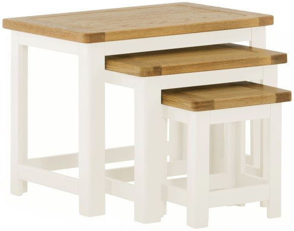 Most Recent Northwood Nest Of Tables In White – Living – Solent Beds Limited Within Northwoods 3 Piece Dining Sets (View 9 of 20)