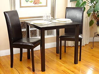 Most Recently Released Amazon – 3 Pc Dining Room Dinette Kitchen Set Square Table And 2 With Regard To Bearden 3 Piece Dining Sets (Gallery 14 of 20)