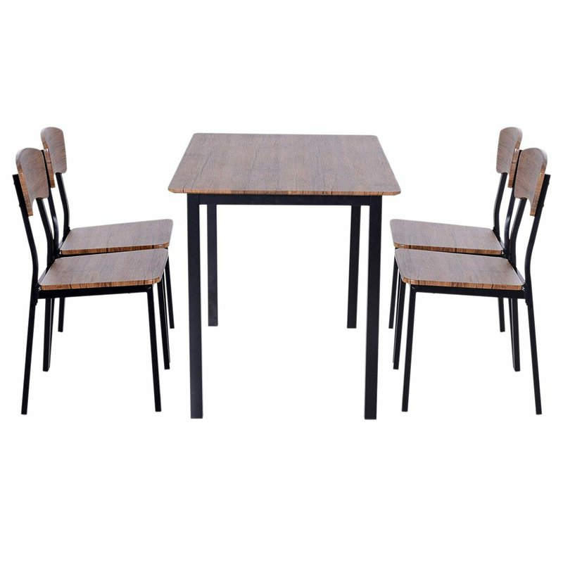 Most Recently Released Castellanos Modern 5 Piece Counter Height Dining Sets Pertaining To Union Rustic Castellanos Modern 5 Piece Counter Height Dining Set (Gallery 4 of 20)