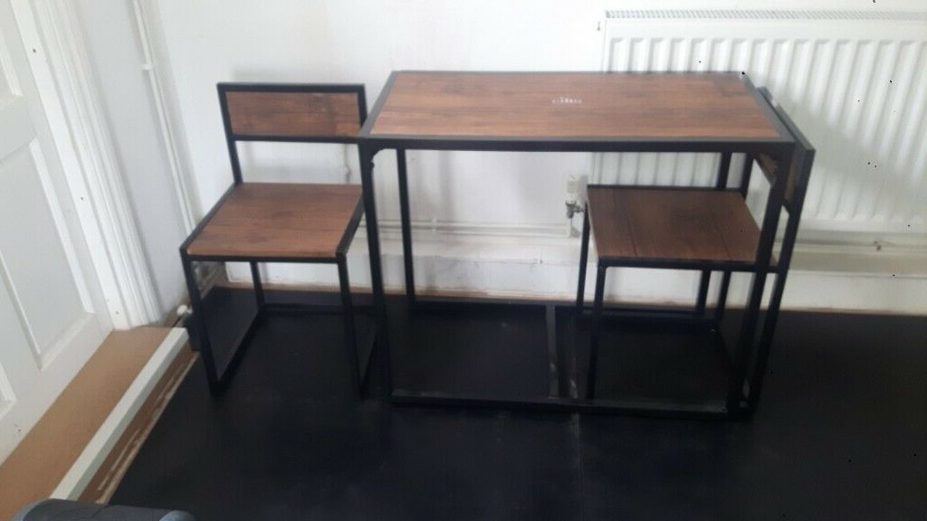 Most Recently Released Lonon 3 Piece Dining Sets In Harbour Housewares 2 Person Space Saving, Compact, Kitchen (View 14 of 20)