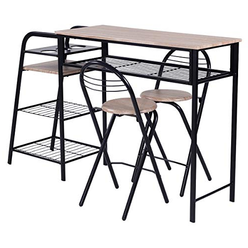 Most Recently Released Rectangular Pub Tables: Amazon Within Kaya 3 Piece Dining Sets (Gallery 14 of 20)
