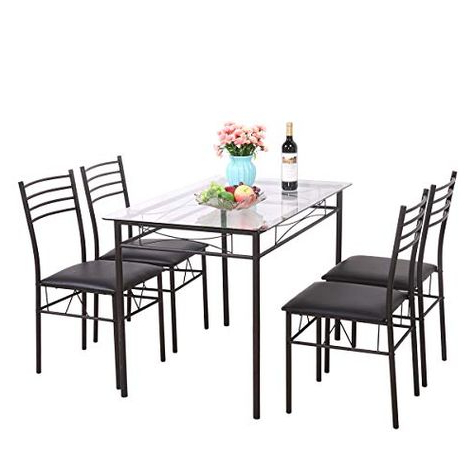 Most Recently Released Stouferberg 5 Piece Dining Sets Inside Fleur De Lis Living Shipststour 5 Piece Dining Set (View 10 of 20)