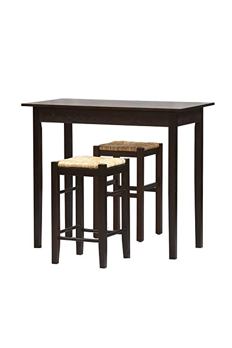 Most Recently Released Tappahannock 3 Piece Counter Height Dining Sets Inside Amazon – 3 Pc Counter Dining Set In Espresso Finish – Table (View 10 of 20)