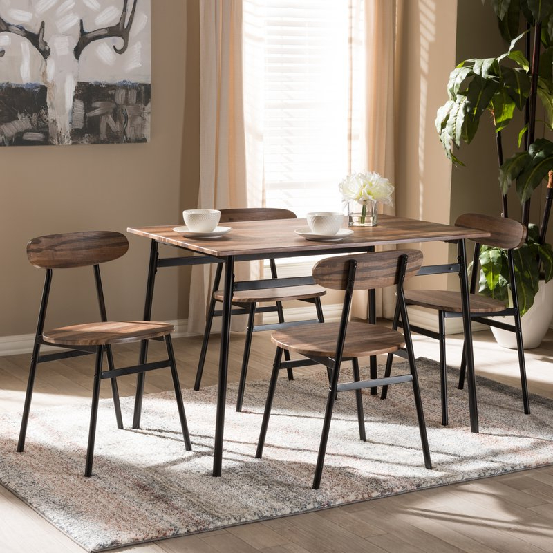 Most Recently Released Telauges 5 Piece Dining Sets In Union Rustic Telauges 5 Piece Dining Set & Reviews (View 2 of 20)