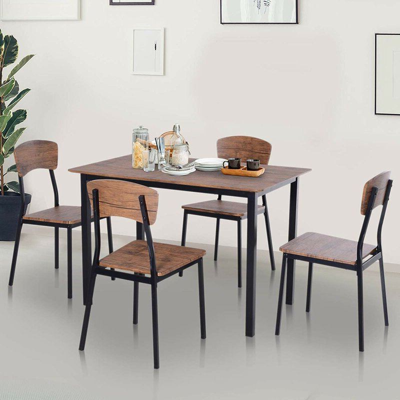 Most Recently Released Union Rustic Castellanos Modern 5 Piece Counter Height Dining Set With Castellanos Modern 5 Piece Counter Height Dining Sets (Gallery 2 of 20)