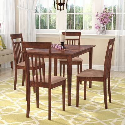 Most Recently Released Wholesale Interiors Baxton Studio Keitaro 5 Piece Dining Set Intended For Baxton Studio Keitaro 5 Piece Dining Sets (View 16 of 20)