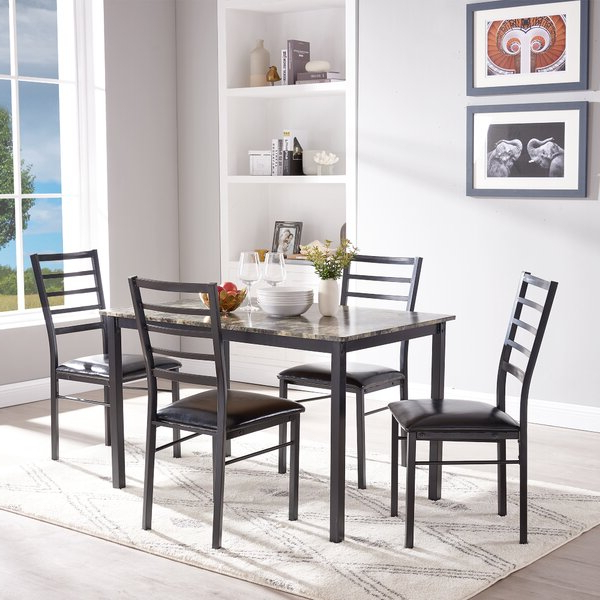 Most Recently Released Winston Porter Mukai 5 Piece Dining Set (View 14 of 20)