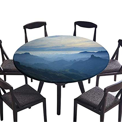 Most Up To Date Amazon: Simple Modern Round Table Cloth Gran Canaria,caldera De Throughout Tejeda 5 Piece Dining Sets (Gallery 12 of 20)