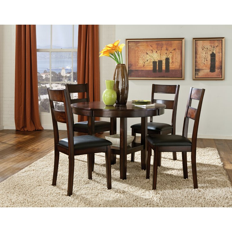 Most Up To Date Amir 5 Piece Solid Wood Dining Sets (set Of 5) Within Winston Porter Juno 5 Piece Dining Set & Reviews (View 3 of 20)