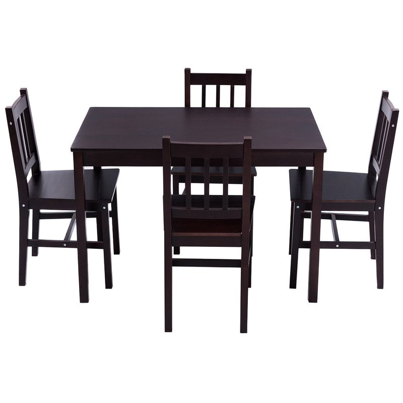 Most Up To Date Sundberg 5 Piece Solid Wood Dining Sets For Winston Porter Sundberg 5 Piece Solid Wood Dining Set & Reviews (View 2 of 20)