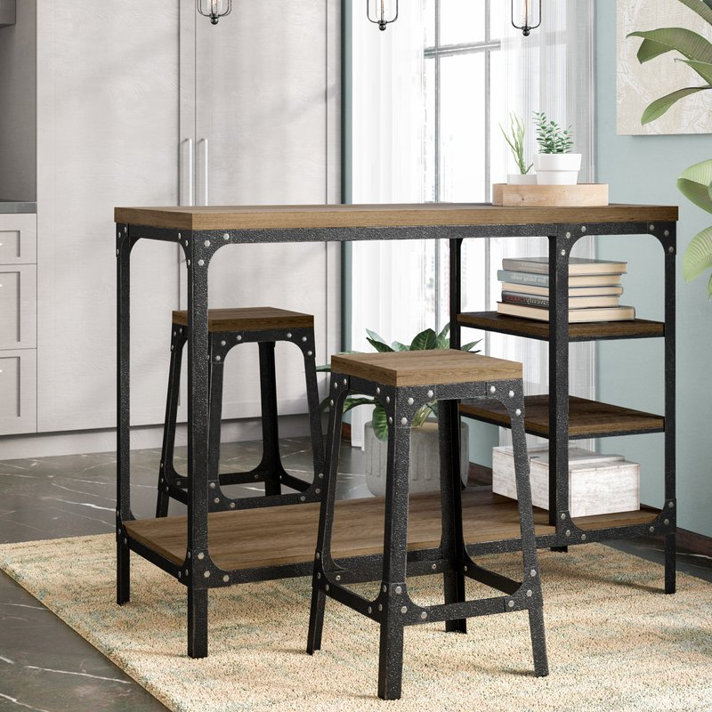 Most Up To Date Terence 3 Piece Breakfast Nook Dining Set & Reviews (View 11 of 20)