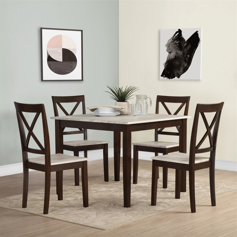 Most Up To Date Tilley Rustic 5 Piece Dining Set & Reviews (View 15 of 20)