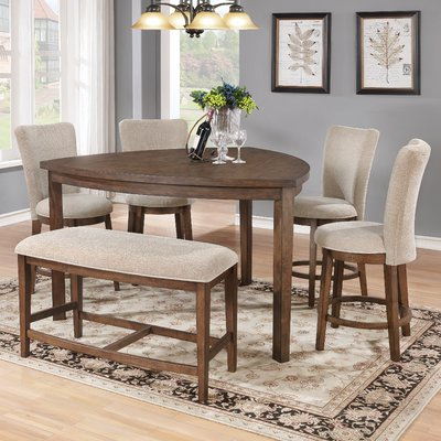 Mukai 5 Piece Dining Sets Pertaining To Fashionable Bloomsbury Market Buckminster 6 Piece Counter Height Dining Set (View 19 of 20)