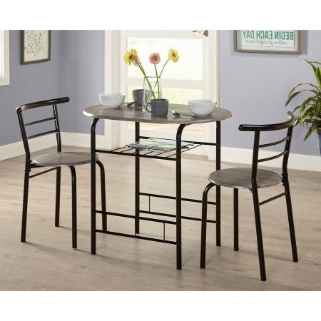 Newest 3 Piece Bistro Set, Multiple Colors, Home Furniture, Pub Table Throughout Kieffer 5 Piece Dining Sets (Gallery 17 of 20)
