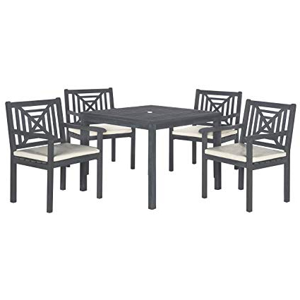 Newest Amazon : Safavieh Outdoor Living Collection Del Mar 5 Piece With Delmar 5 Piece Dining Sets (View 3 of 20)
