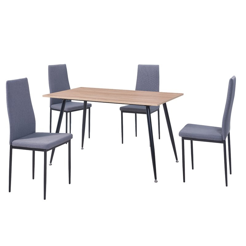 Newest Amir 5 Piece Solid Wood Dining Sets (set Of 5) With Regard To Wrought Studio Nieto Scandinavian Style Exotic 5 Pieces Dining Set (View 8 of 20)