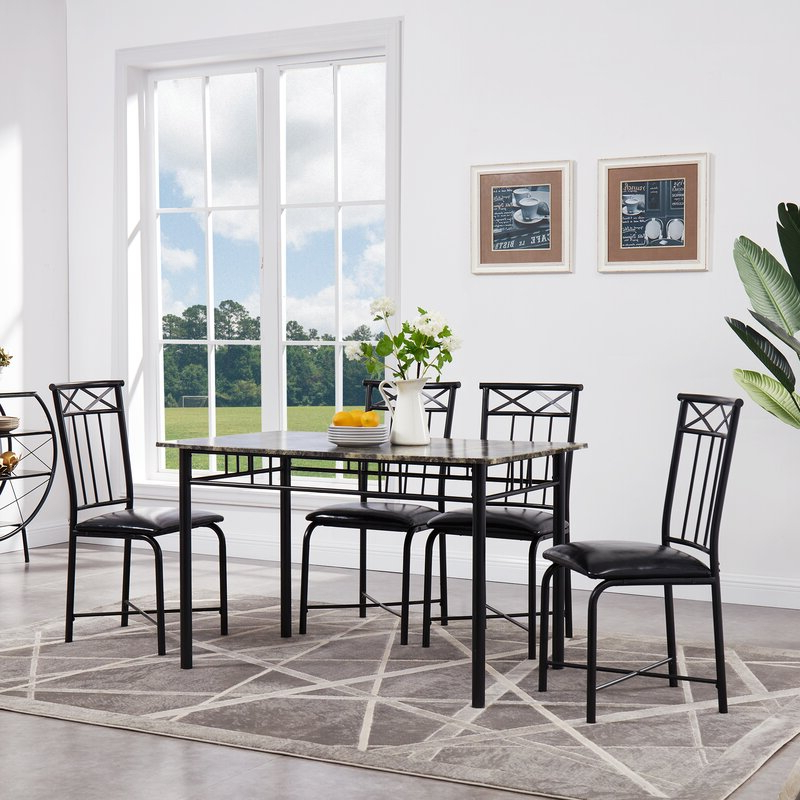 Newest Fleur De Lis Living Register 5 Piece Dining Set & Reviews (Gallery 4 of 20)