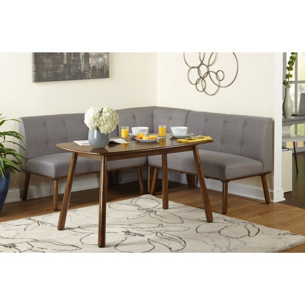 Newest Maloney 3 Piece Breakfast Nook Dining Sets With Regard To Shop Simple Living 4 Piece Playmate Nook Dining Set – On Sale – Free (View 16 of 20)