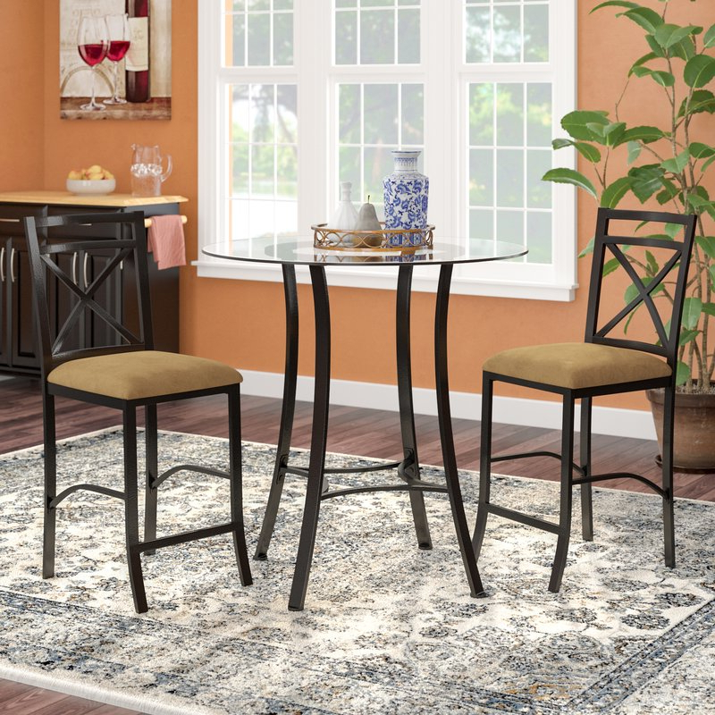 Newest Saleh 3 Piece Dining Set & Reviews (Gallery 6 of 20)