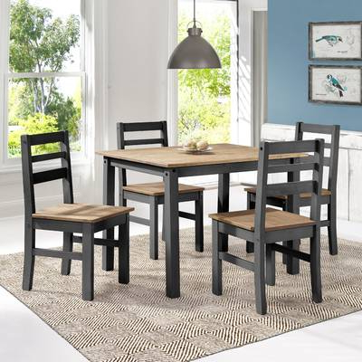 Newest Union Rustic Castellanos Modern 5 Piece Counter Height Dining Set Pertaining To Castellanos Modern 5 Piece Counter Height Dining Sets (View 13 of 20)