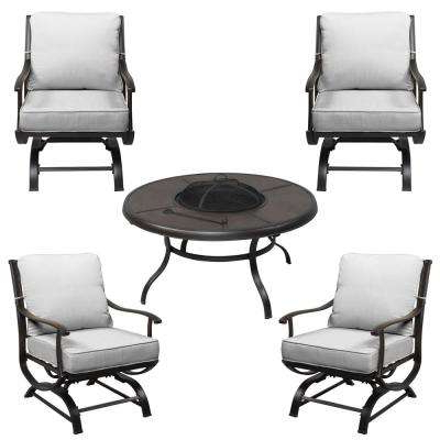 North Reading 5 Piece Dining Table Sets Within 2017 Special Values – Patio Furniture – Outdoors – The Home Depot (Gallery 19 of 20)