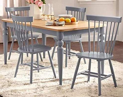 Noyes 5 Piece Dining Sets Regarding Recent Dinette Sets For Small Spaces Dinning Room Table Set Five Piece Gray (Gallery 19 of 20)