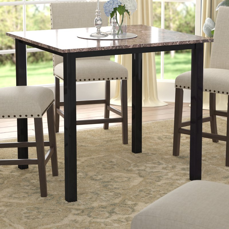 Noyes 5 Piece Dining Sets With Regard To Most Current Red Barrel Studio Noyes Counter Height Dining Table & Reviews (Gallery 8 of 20)