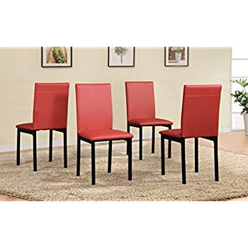 Noyes 5 Piece Dining Sets Within Most Up To Date Amazon – Roundhill Furniture C007Rd Noyes Faux Leather Metal (Gallery 16 of 20)