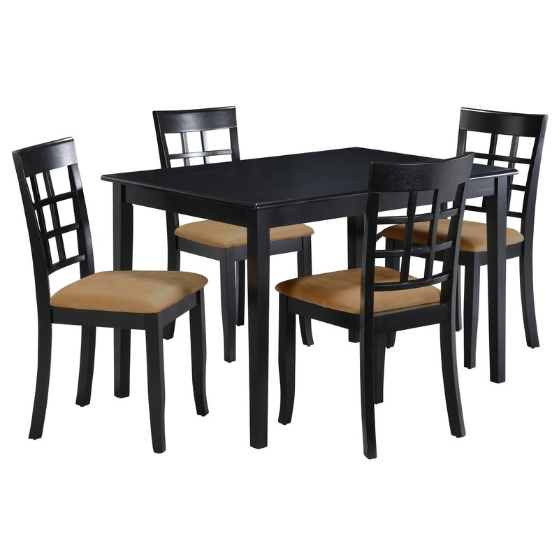 Oneill 5 Piece Windown Back Dining Set & Reviews (View 10 of 20)