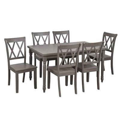 Osterman 6 Piece Extendable Dining Sets (Set Of 6) Within Trendy Red Barrel Studio Osterman 6 Piece Extendable Dining Set (Gallery 10 of 20)