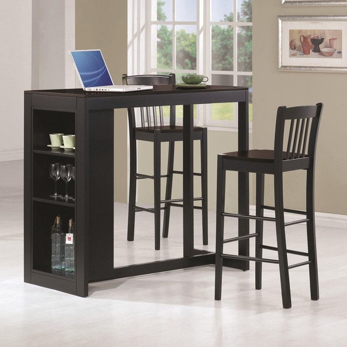 Partin 3 Piece Dining Sets Intended For 2018 Kitchen Bar Stools With Table (View 5 of 20)