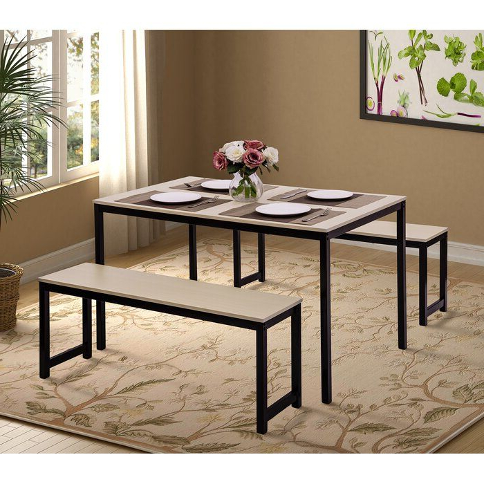 Partin 3 Piece Dining Sets Throughout Well Liked Partin 3 Piece Dining Set In 2019 (Gallery 5 of 20)
