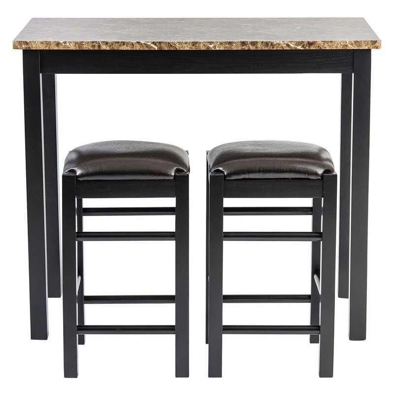 Penelope 3 Piece Counter Height Wood Dining Sets Intended For Favorite Winston Porter Moorehead 3 Piece Counter Height Dining Set & Reviews (View 11 of 20)