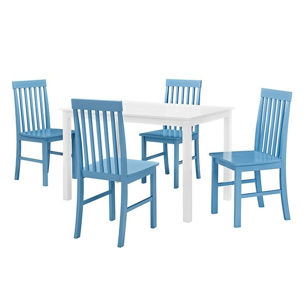 Penelope 3 Piece Counter Height Wood Dining Sets Regarding Current Shop Delacora We Bdw485Pc Penelope Five Piece Wood Dining Table Set (View 12 of 20)
