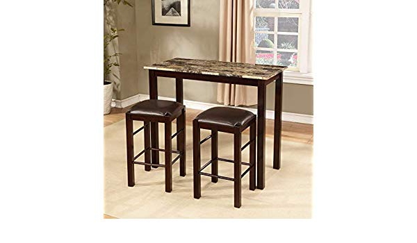 Penelope 3 Piece Counter Height Wood Dining Sets With Current Amazon – Winston Porter Penelope 3 Piece Counter Height Wood (View 13 of 20)