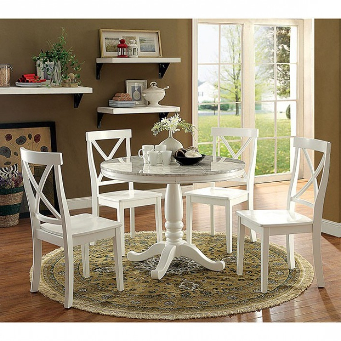 Penelope 5 Piece Round Table Dining Room Setfurniture Of For Most Recently Released Penelope 3 Piece Counter Height Wood Dining Sets (Gallery 15 of 20)
