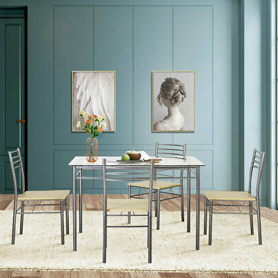 Picclick Within Ganya 5 Piece Dining Sets (Gallery 17 of 20)