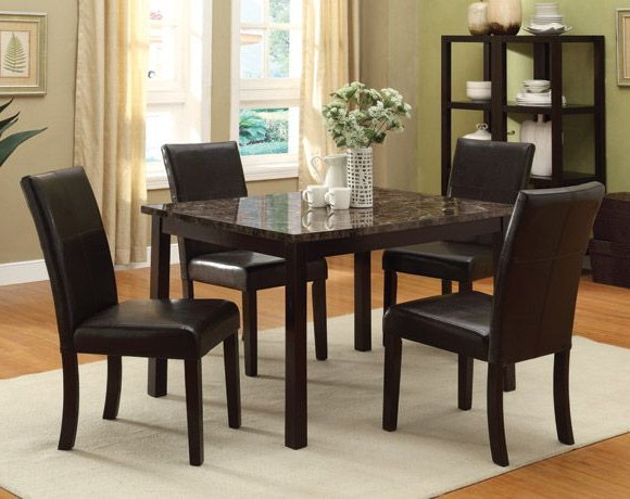 Pompei Five Piece Dining Set With Well Known Cargo 5 Piece Dining Sets (Gallery 15 of 20)