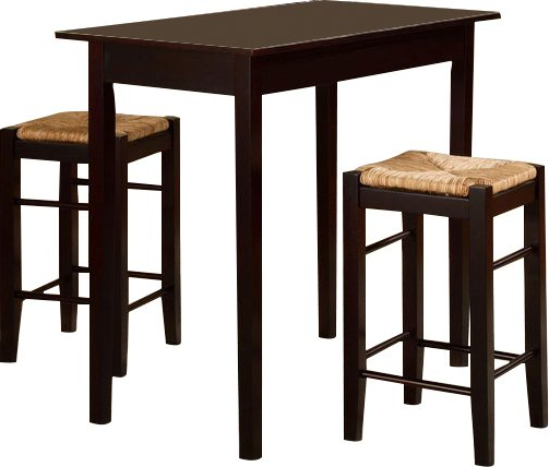 Popular August Grove Tenney 3 Piece Counter Height Dining Set & Reviews Pertaining To Berrios 3 Piece Counter Height Dining Sets (View 15 of 20)