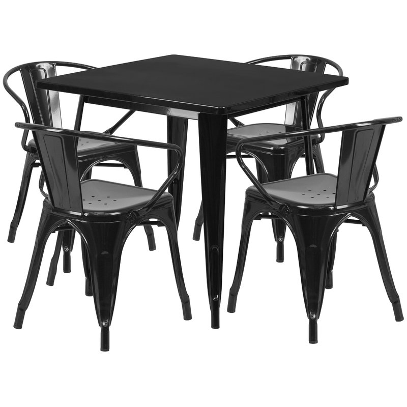 Popular Rossiter 3 Piece Dining Sets In 17 Stories Rossiter 5 Piece Dining Set & Reviews (Gallery 9 of 20)