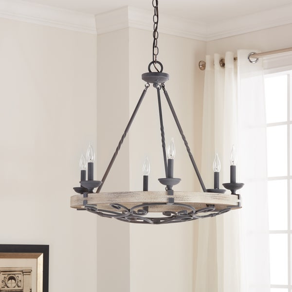 Popular Taulbee 5 Piece Dining Sets Intended For Shop Kichler Lighting Taulbee Collection 6 Light Weathered Zinc (View 18 of 20)