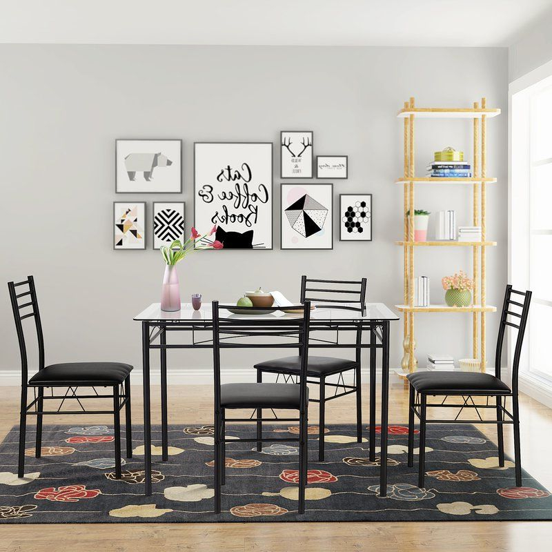 Popular Taulbee 5 Piece Dining Sets With Regard To Taulbee 5 Piece Dining Set In 2019 (Gallery 1 of 20)
