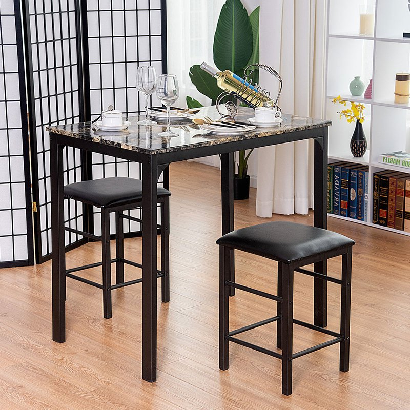 Popular Winston Porter Mitzel 3 Piece Dining Set & Reviews (Gallery 5 of 20)
