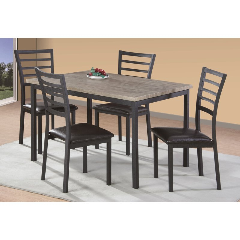Popular Zipcode Design Frankie 5 Piece Dining Set & Reviews (View 8 of 20)