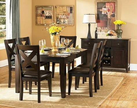 Pratiksha Sonoma 5 Piece Dining Sets Throughout Latest Carriage Hill 7 Piece Extendable Dining Set (View 5 of 20)