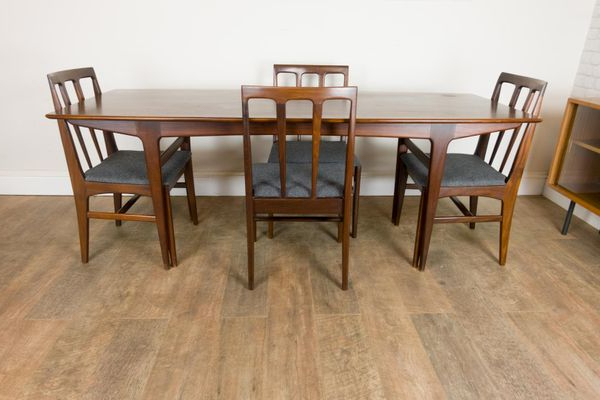 Preferred Afromosia Table And 4 Chairsjohn Herbert For Younger, 1960S For In John 4 Piece Dining Sets (View 14 of 20)